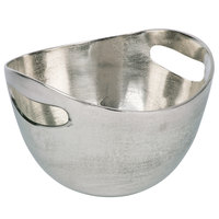 10 Strawberry Street LODO-9CTOUTBWL-SLV Lodo 64 oz. Raw Silver Handled Metal Bowl - 6/Case
