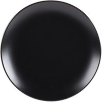 10 Strawberry Street WM-4-BLK Wazee Matte 7 3/4 inch Round Black Stoneware Salad Plate   - 24/Case