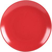 10 Strawberry Street WM-4-RED Wazee Matte 7 3/4 inch Round Red Stoneware Salad Plate - 24/Case