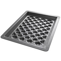 Chicago Metallic 70824 BAKALON 16 Gauge Glazed Anodized Aluminum Diamond Grill Pan - 8 1/4 inch x 11 1/2 inch