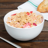 10 Strawberry Street WM-7-WHT Wazee Matte 16 oz. Round White Stoneware Cereal Bowl - 24/Case