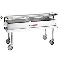 MagiKitch'n CG-60 Portable 60 inch Aluminized Steel Charcoal Grill