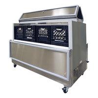 Master-Bilt DOMC-164-A White Dual Access Milk Cooler - 63 inch