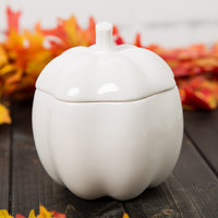 10 Strawberry Street A4606 Whittier 16.5 oz. White Porcelain Pumpkin Jar