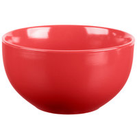 10 Strawberry Street WM-7-RED Wazee Matte 16 oz. Round Red Stoneware Cereal Bowl   - 24/Case