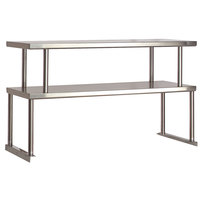 Advance Tabco TOS-6 Stainless Steel Double Overshelf - 12 inch x 93 1/8 inch