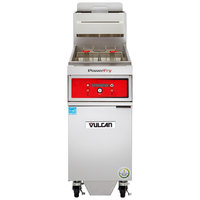 Vulcan 1TR45DF-1 PowerFry3 Natural Gas 45-50 lb. Floor Fryer with Solid State Digital Controls and KleenScreen Filtration System - 70,000 BTU