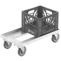 Channel MC1326 13 inch x 13 inch Milk Crate Dolly - 2 Stack Capacity
