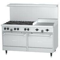 Garland SunFire Series X60-6G24RS Liquid Propane 60 inch 6 Burner Range with 24 inch Griddle, 1 Standard Oven, and 1 Storage Base - 221,000 BTU