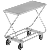 Channel STKG100 Chrome Plated Steel Stocking Truck with Galvanized Deck - 40 inch x 17 inch