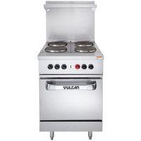 Vulcan EV24S-4FP4803 Endurance Series 4 Burner 24 inch Electric Range with Oven Base - 480V, 13 kW