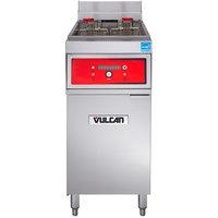 Vulcan 1ER50D-2 50 lb. Electric Floor Fryer with Digital Controls - 480V, 3 Phase, 17 kW