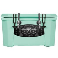 2 Faucet Seafoam Green 40 Qt. Grizzly Jockey BrewBox with (2) 75' Coils
