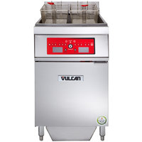 Vulcan 1ER85CF-2 85 lb. Electric Floor Fryer with Computer Controls and KleenScreen Filtration - 480V, 3 Phase, 24 kW