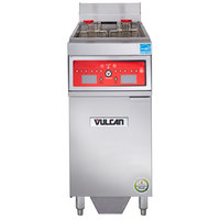 Vulcan 1ER50CF-1 50 lb. Electric Floor Fryer with Computer Controls and KleenScreen Filtration - 208V, 3 Phase, 17 kW
