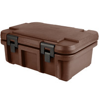Cambro UPC160131 Camcarrier Ultra Pan Carrier® Dark Brown Top Loading 6 inch Deep Insulated Food Pan Carrier