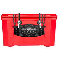 Grizzly Cooler 9080 2 Faucet Red 40 Qt. Jockey BrewBox with (2) 75' Coils