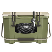 1 Faucet Olive Green 20 Qt. Grizzly Jockey BrewBox with 75' Coil