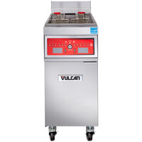 Vulcan 1ER50C-2 50 lb. Electric Floor Fryer with Computer Controls - 480V, 3 Phase, 17 kW
