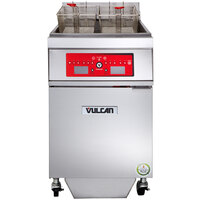 Vulcan 1ER85CF-1 85 lb. Electric Floor Fryer with Computer Controls and KleenScreen Filtration - 208V, 3 Phase, 24 kW