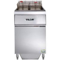 Vulcan 1ER85AF-2 85 lb. Electric Floor Fryer with Analog Controls and KleenScreen Filtration - 480V, 3 Phase, 24 kW