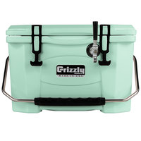 Grizzly Cooler 9090 1 Faucet Seafoam Green 20 Qt. Jockey BrewBox with 75' Coil