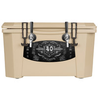 2 Faucet Tan 40 Qt. Grizzly Jockey BrewBox with (2) 75' Coils