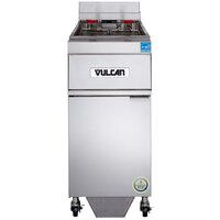 Vulcan 1ER50AF-2 50 lb. Electric Floor Fryer with Analog Controls and KleenScreen Filtration - 480V, 3 Phase, 17 kW