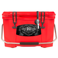 1 Faucet Red 20 Qt. Grizzly Jockey BrewBox with 75' Coil