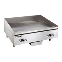Vulcan RRE24E 24 inch Electric Countertop Griddle with Rapid Recovery Plate and Snap-Action Thermostatic Controls - 208V, 3 Phase, 10.8 kW