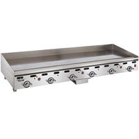 Vulcan 972RX-24 Liquid Propane 72 inch Griddle with Snap-Action Thermostatic Controls - 162,000 BTU