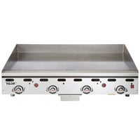 Vulcan 972RX-30 Natural Gas 72 inch Griddle with Snap-Action Thermostatic Controls and Extra Deep Plate - 162,000 BTU