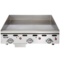 Vulcan 936RX-30 Liquid Propane 36 inch Griddle with Snap-Action Thermostatic Controls and Extra Deep Plate - 81,000 BTU