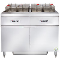 Vulcan 2ER85AF-1 170 lb. 2 Unit Electric Floor Fryer System with Analog Controls and KleenScreen Filtration - 208V, 3 Phase, 48 kW