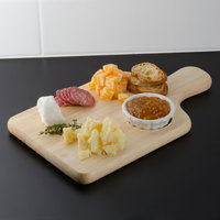 Tablecraft 79A Bread / Charcuterie Board with Insert - 13 inch x 7 3/4 inch x 3/4 inch