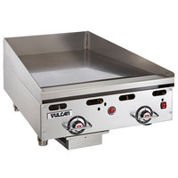 Vulcan 924RX-24 Liquid Propane 24 inch Griddle with Snap-Action Thermostatic Controls - 54,000 BTU