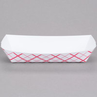 Southern Champion 7091 7 inch x 2 3/4 inch x 1 1/2 inch Red Check Paper Hot Dog Tray - 250/Pack