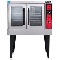 Vulcan SG4-NAT Natural Gas Single Deck Full Size Gas Convection Oven with Solid State Controls - 60,000 BTU