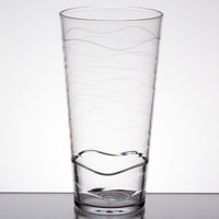 GET SW-1477-CL Stream 20 oz. Clear Stackable SAN Plastic Tumbler   - 24/Case