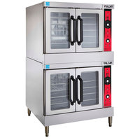 Vulcan SG44-NAT Natural Gas Double Deck Full Size Gas Convection Oven with Solid State Controls - 120,000 BTU