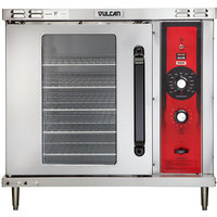 Vulcan GCO2D-LP Liquid Propane Single Deck Half Size Gas Convection Oven with Solid State Controls - 25,000 BTU