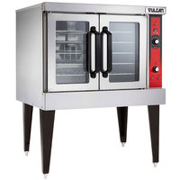 Vulcan VC4GC-LP Liquid Propane Single Deck Full Size Gas Convection Oven with Computer Controls - 50,000 BTU