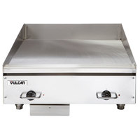 Vulcan HEG24E 24 inch Electric Countertop Griddle with Snap-Action Thermostatic Controls - 208V, 1 Phase, 10.8 kW