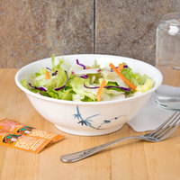 Thunder Group 5070BB Blue Bamboo 36 oz. Round Melamine Rimless Bowl - 12/Case