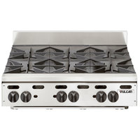 Vulcan VHP636 Natural Gas 36 inch 6 Burner Countertop Range - 180,000 BTU