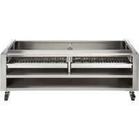 Vulcan SMOKER-VCCB72 Achiever Series 72 inch Wood Assist Stand with Two Wood Trays