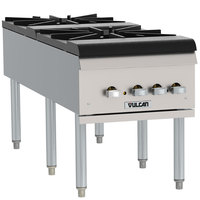 Vulcan VSP200F Liquid Propane 2 Burner Countertop Stock Pot Range - 220,000 BTU