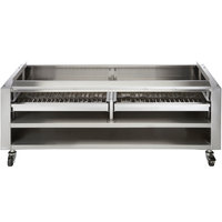 Vulcan SMOKER-VCCB60 Achiever Series 60 inch Wood Assist Stand with Two Wood Trays
