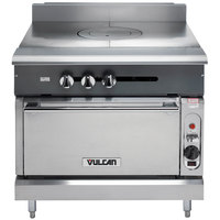 Vulcan V1FT36S-NAT V Series Natural Gas Heavy-Duty Range with 36 inch French Top and Standard Oven - 95,000 BTU