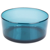 Carlisle MIN544615 Mingle 5 Qt. Teal Tritan Plastic Serving Bowl - 4/Case